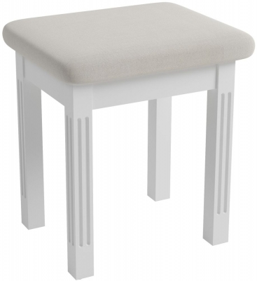 Ashby White Painted Bedroom Stool