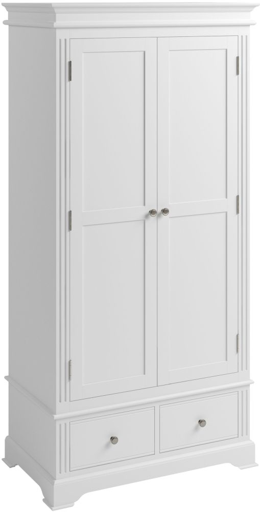 Ashby White Painted 2 Door 2 Drawer Wardrobe