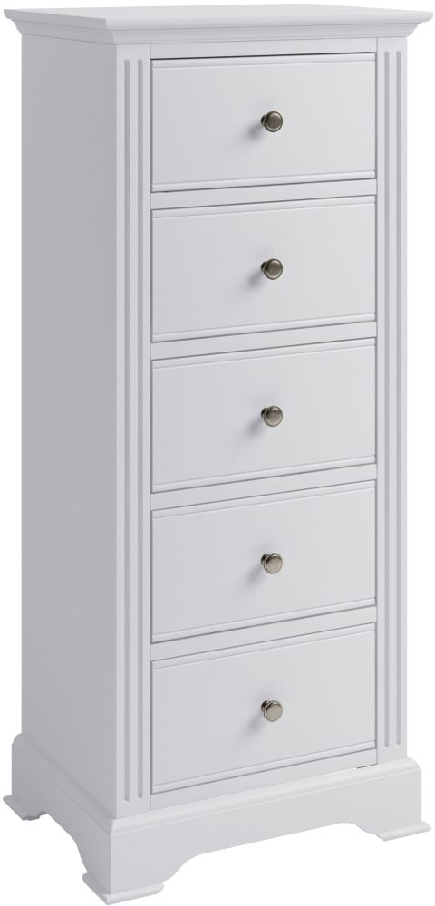 Ashby White Painted 5 Drawer Tall Chest