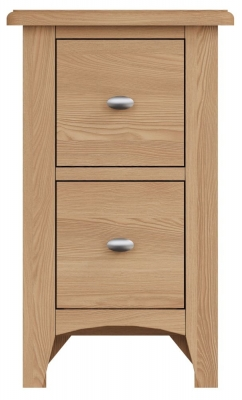 Eva Light Oak 2 Drawer Bedside Cabinet