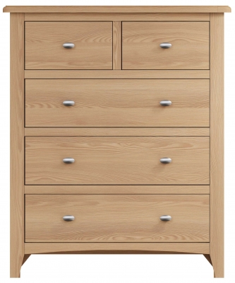 Eva Light Oak 2+3 Drawer Chest