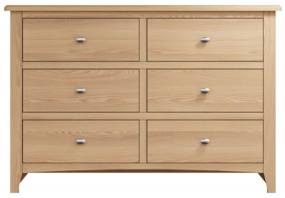 Eva Light Oak 6 Drawer Chest