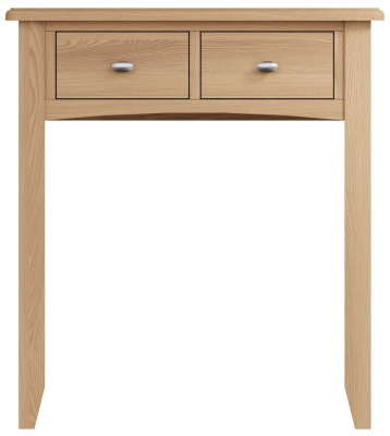 Eva Light Oak 2 Drawer Dressing Table