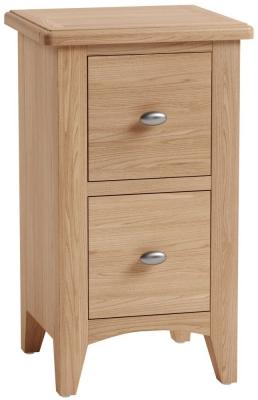 Eva Light Oak 2 Drawer Bedside Cabinet