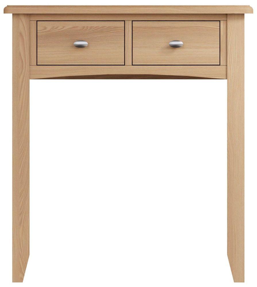 Eva Light Oak 2 Drawer Dressing Table