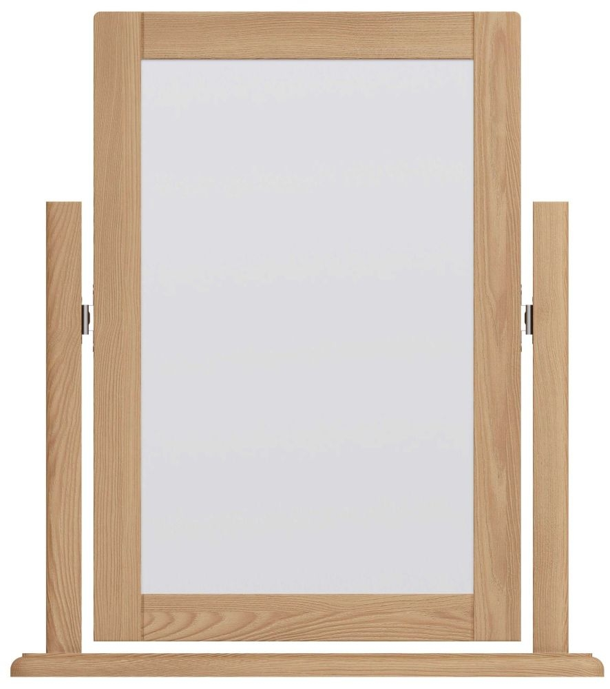 Eva Light Oak Dressing Mirror