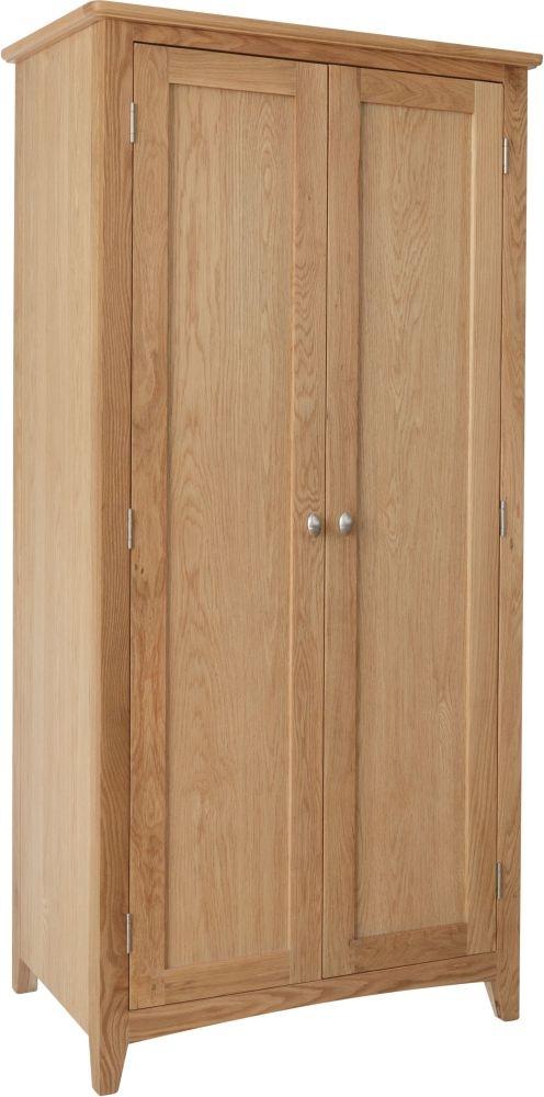 Eva Light Oak 2 Door Wardrobe