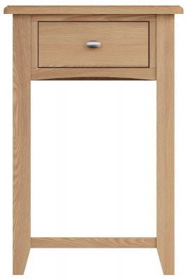 Eva Light Oak 1 Drawer Telephone Table