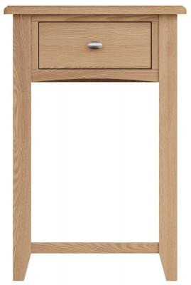 Eva Light Oak 1 Drawer Telephone Table