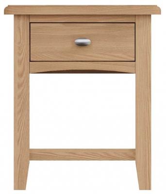 Eva Light Oak 1 Drawer Lamp Table