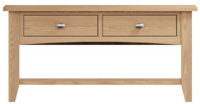 Eva Light Oak 2 Drawer Coffee Table