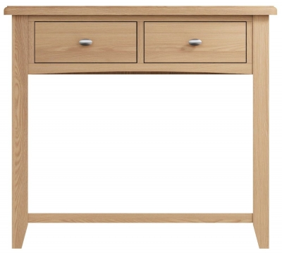 Eva Light Oak 2 Drawer Console Table