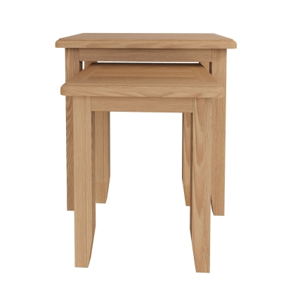 Eva Light Oak Nest of 2 Tables