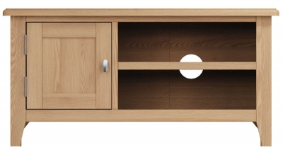 Eva Light Oak 1 Door TV Unit