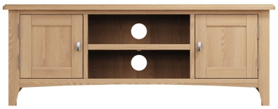 Eva Light Oak 2 Door TV Unit