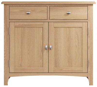 Eva Light Oak 2 Door 2 Drawer Sideboard