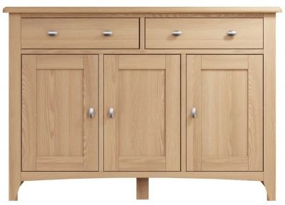 Eva Light Oak 3 Door 2 Drawer Sideboard