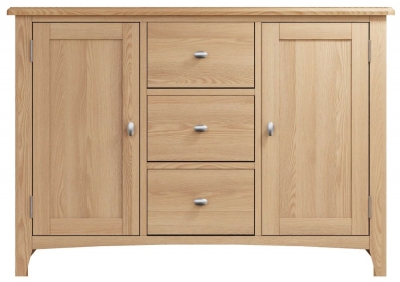 Eva Light Oak 2 Door 3 Drawer Sideboard