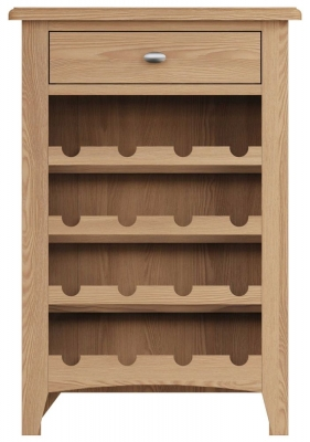 Eva Light Oak 1 Drawer Wine Cabinet