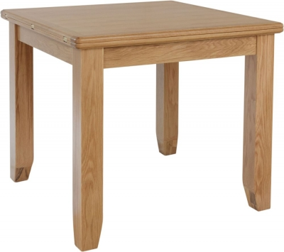 Eva Light Oak Flip Top Dining Table