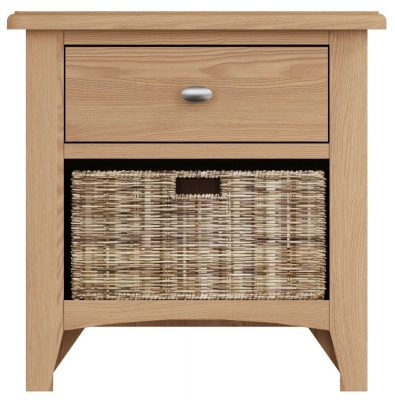 Eva Light Oak 1 Drawer 1 Basket Unit