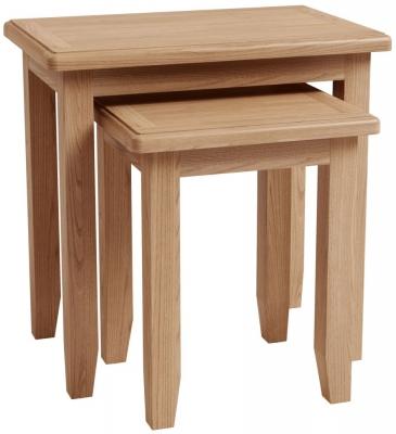 Eva Light Oak Nest of 2 Tables