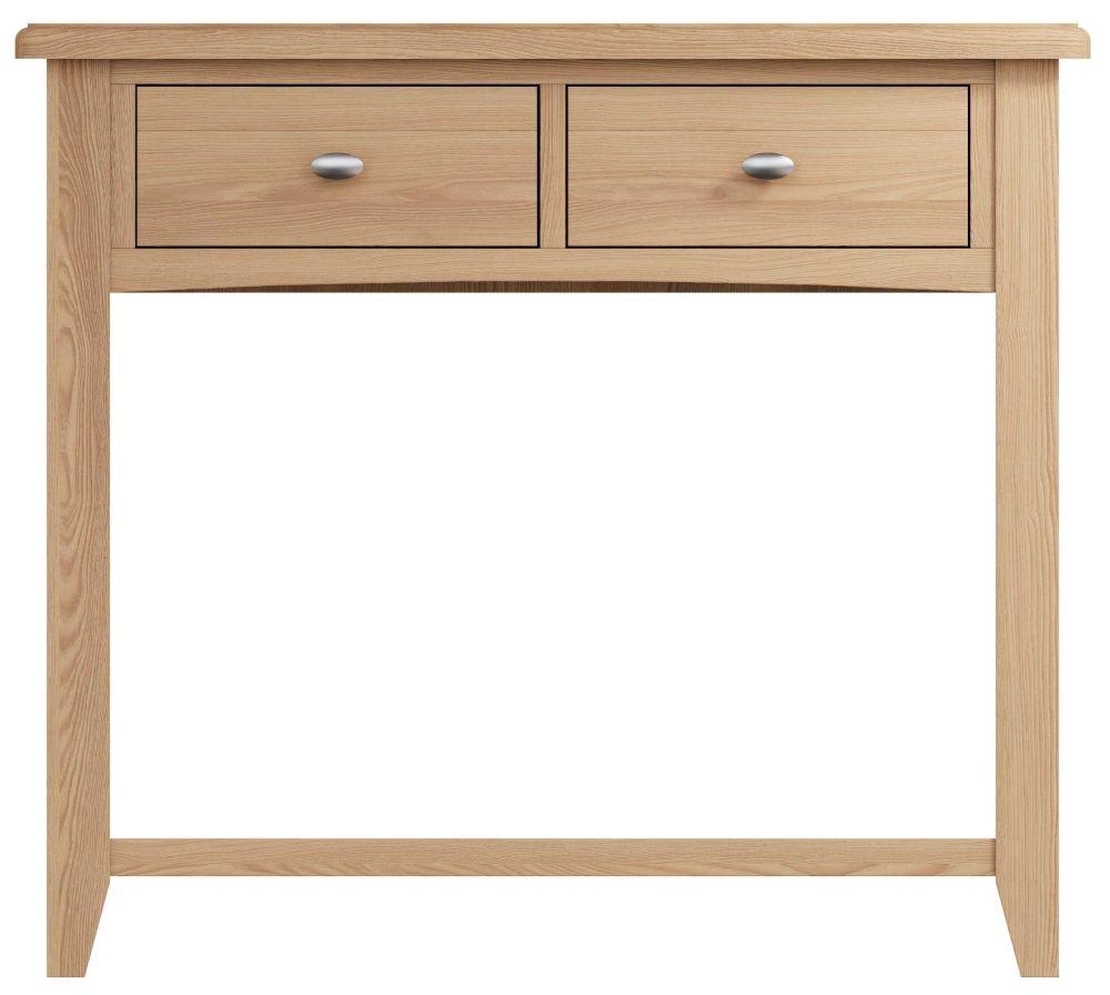 Eva Light Oak 2 Drawer Console Table