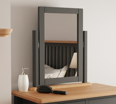 Graceton Oak and Grey Painted Trinket Mirror