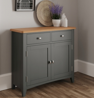 Graceton Oak and Grey Painted 2 Door 2 Drawer Sideboard