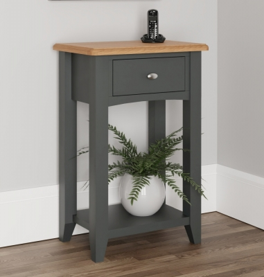 Graceton Oak and Grey Painted Telephone Table