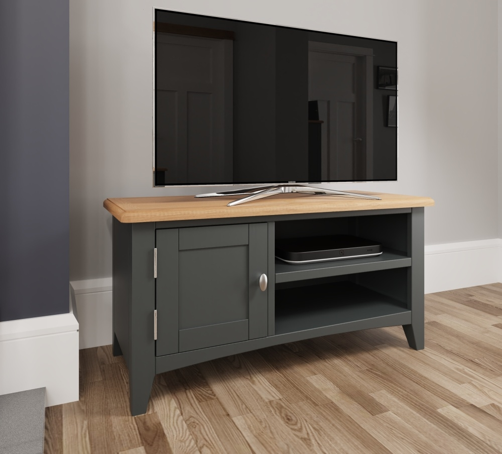 Graceton Oak and Grey Painted TV Unit