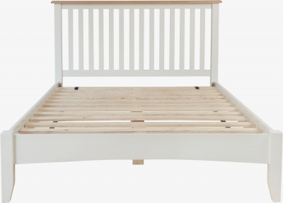 Graceton Oak and White Painted Bed