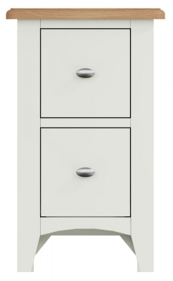 Graceton Oak and White Painted 2 Drawer Bedside Cabinet