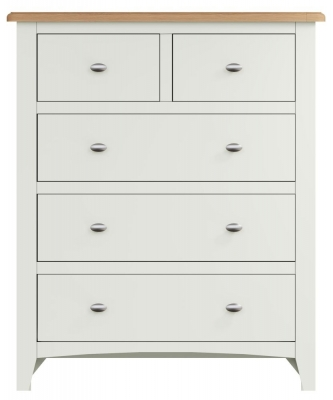 Graceton Oak and White Painted 2+3 Drawer Chest