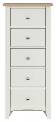 Graceton Oak and White Painted 5 Drawer Chest