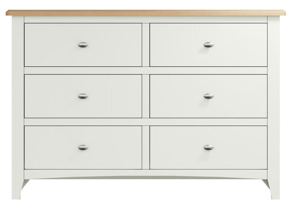 Graceton Oak and White Painted 6 Drawer Chest
