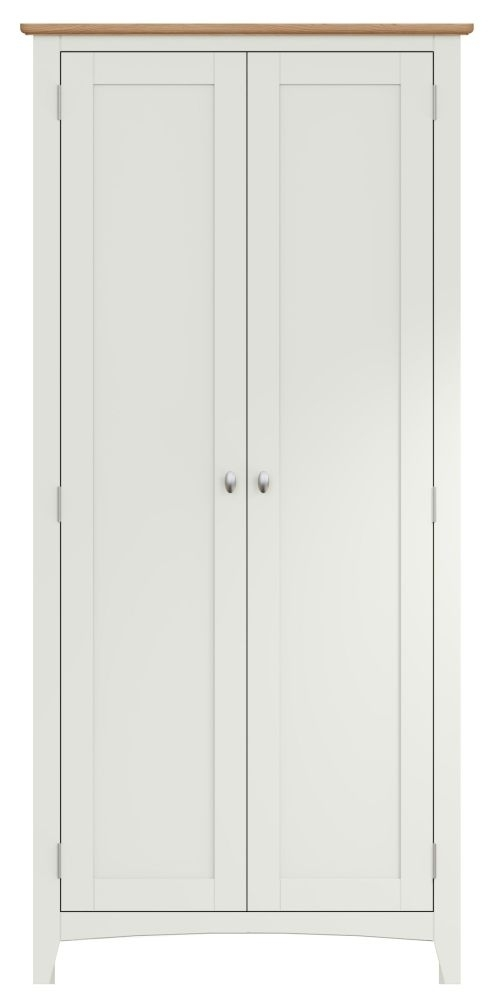 Graceton Oak and White Painted 2 Door Wardrobe