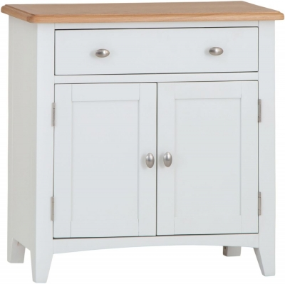 Graceton Oak and White Painted 2 Door 1 Drawer Sideboard