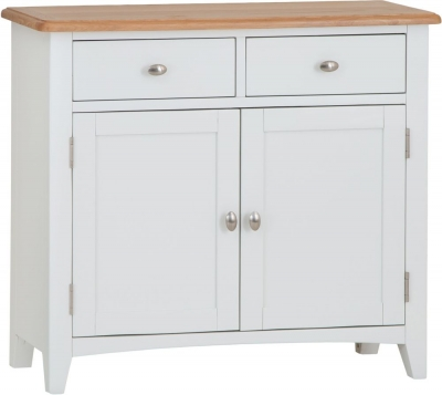 Graceton Oak and White Painted 2 Door 2 Drawer Sideboard