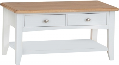 Graceton Oak and White Painted Storage Coffee Table