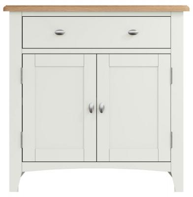 Graceton Oak and White Painted 2 Door 1 Drawer Sideboard