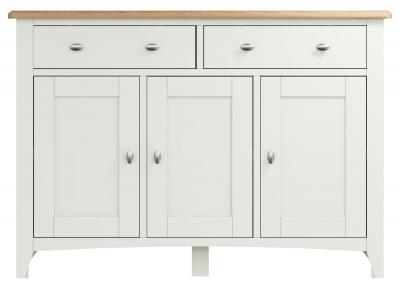 Graceton Oak and White Painted 3 Door 2 Drawer Sideboard