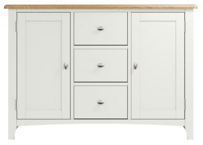 Graceton Oak and White Painted 2 Door 3 Drawer Sideboard