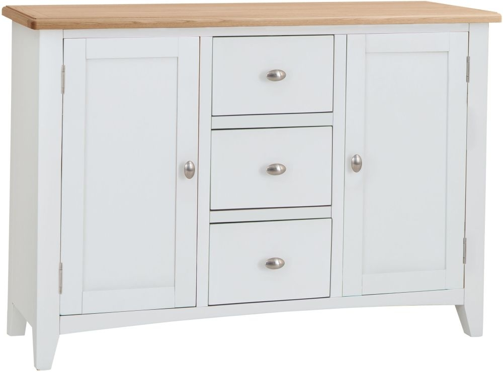 Graceton Oak and White Painted 2 Door 3 Drawer Sideboard