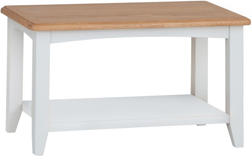 Graceton Oak and White Painted Coffee Table