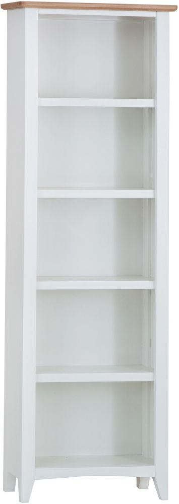 Graceton Oak and White Painted Tall Bookcase