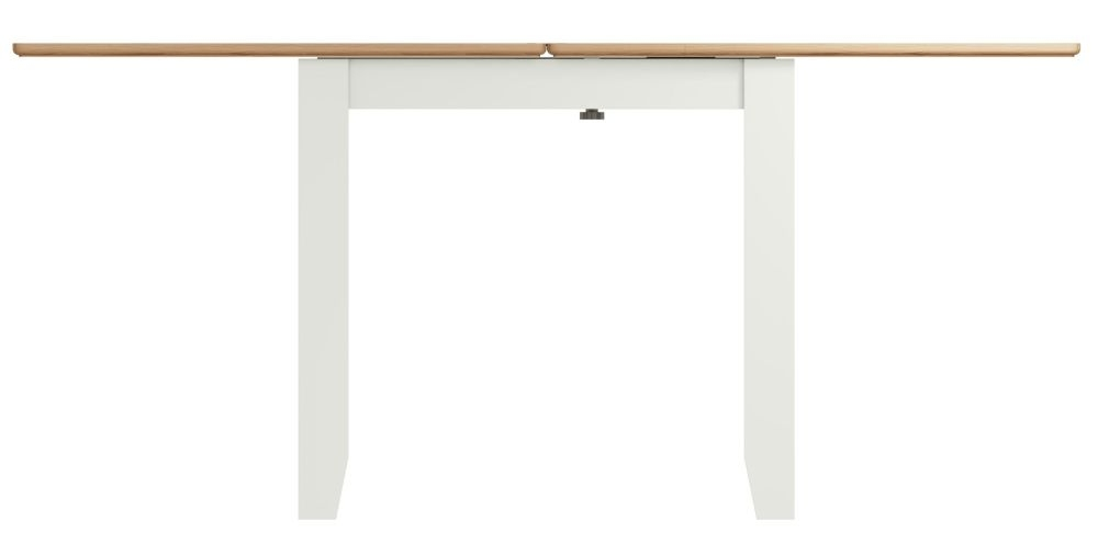 Graceton Oak and White Painted Flip Top Dining Table