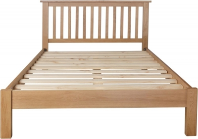 Hampton Rustic Oak Bed