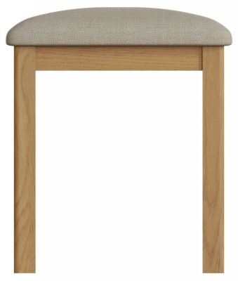 Hampton Rustic Oak Bedroom Stool