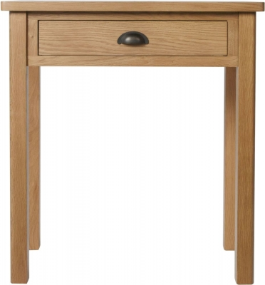 Hampton Rustic Oak 1 Drawer Dressing Table